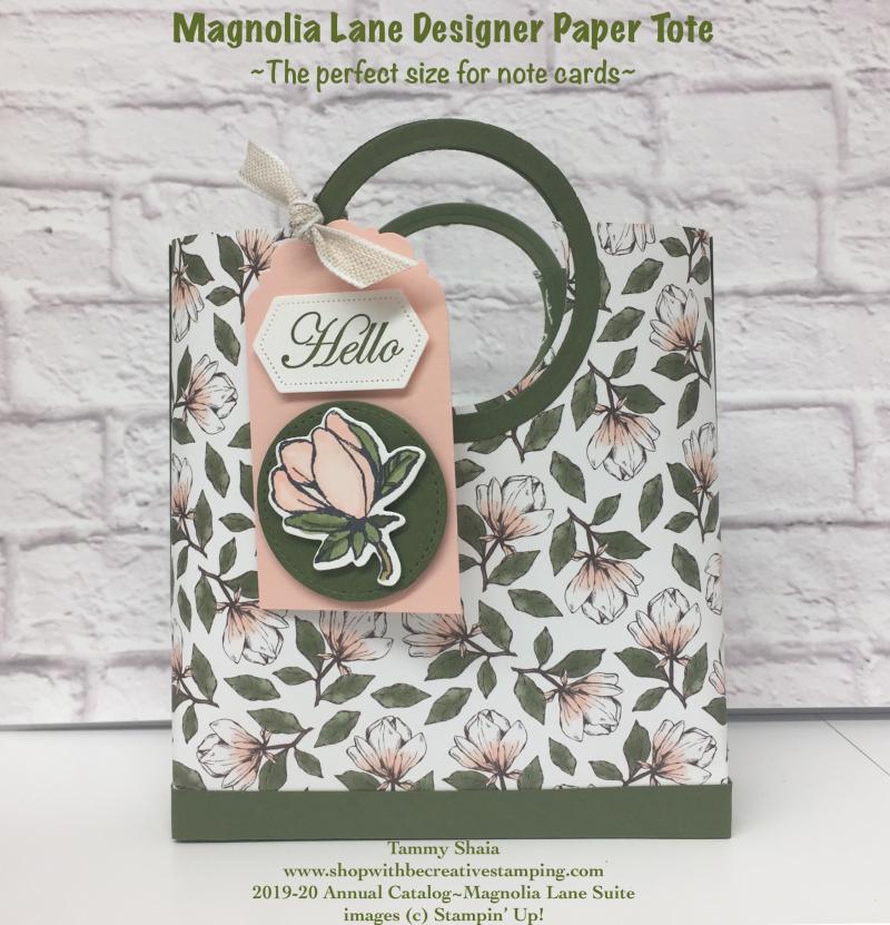 Magnolia Lane Designer Paper Tote