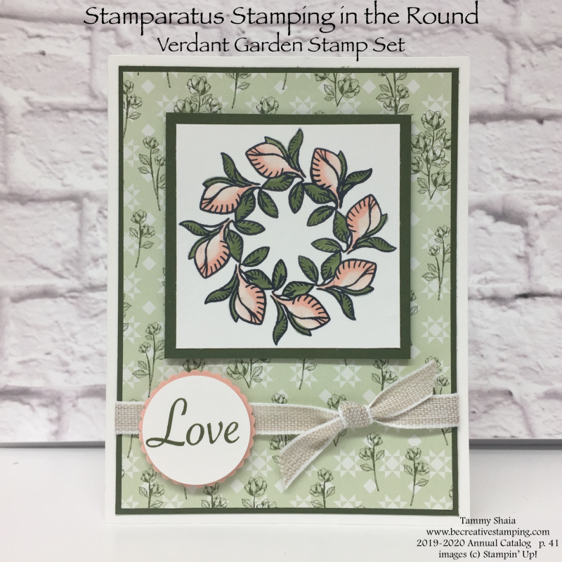 Stamparatus Stamping in the round with Verdant Garden Stamp Set