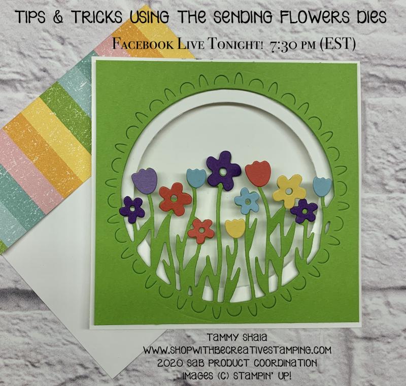 Sending Flowers Dies Card