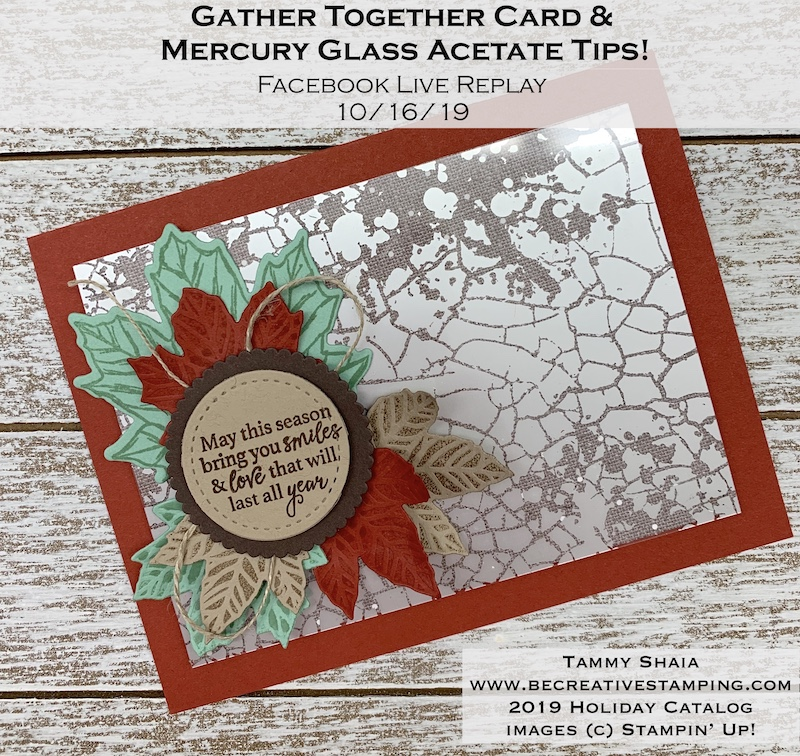 Gather Together Card with Mercury Acetate Sheets (replay)