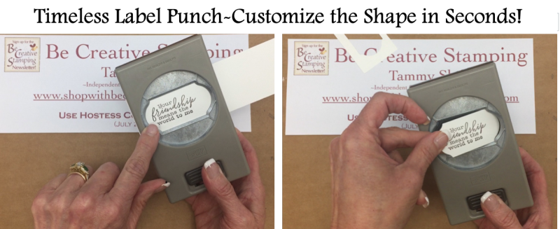 Timeless Label Punch-Customize the shape in seconds