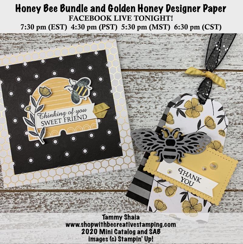 Honey Bee Card & Tag