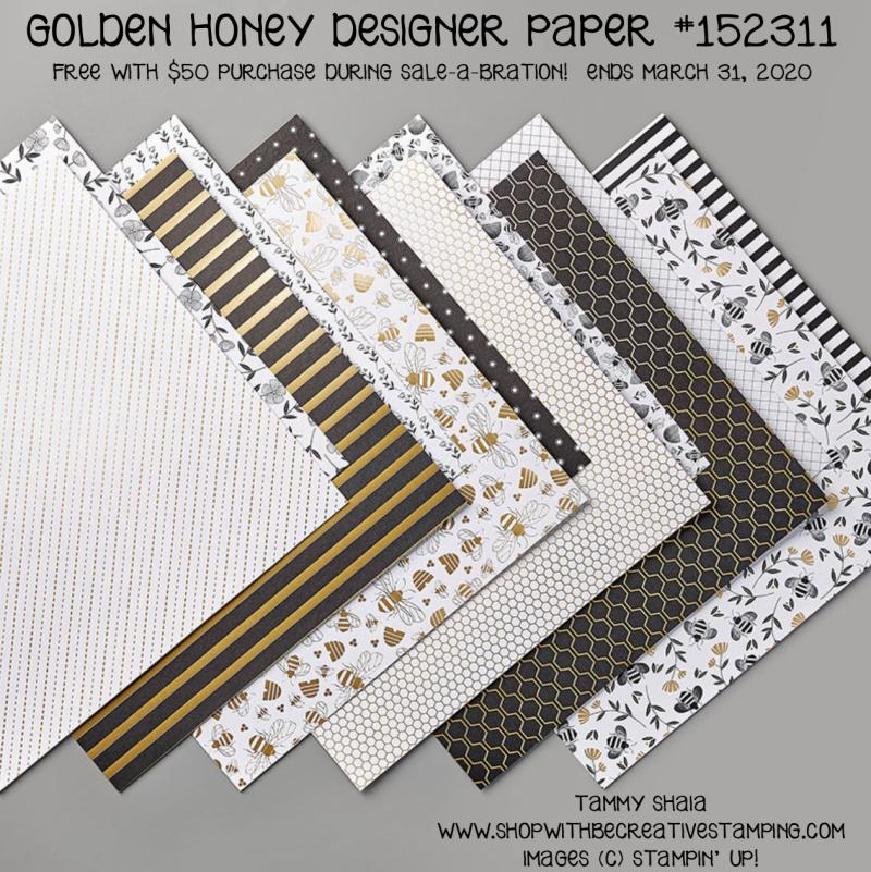 Golden Honey Designer Paper