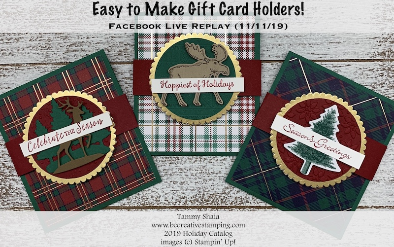 Easy to Make Gift Card Holders (11:11:19 Replay)