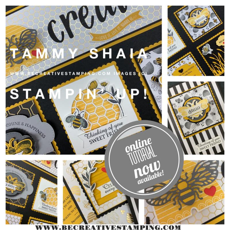 Honey Bee Sampler and Card Class Tutorial