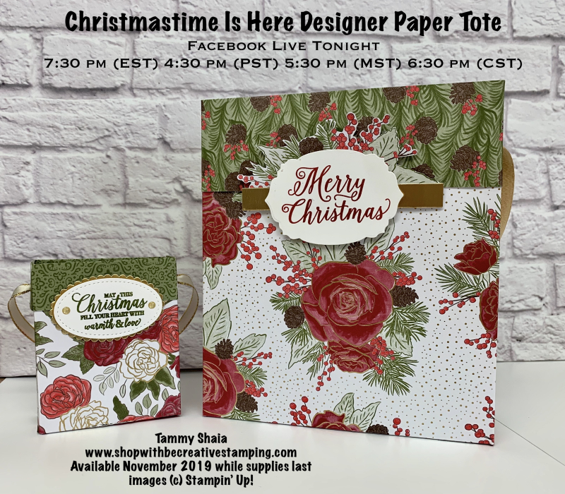 Christmastime Is Here Designer Paper Tote