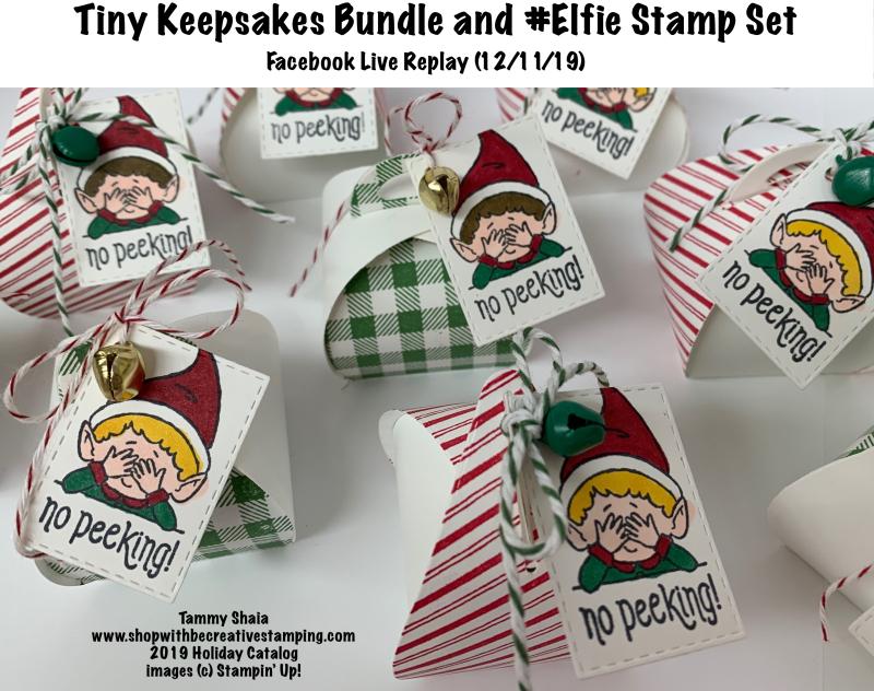 Tiny Keepsakes Bundle and Elfie Stamp (FB REPLAY)