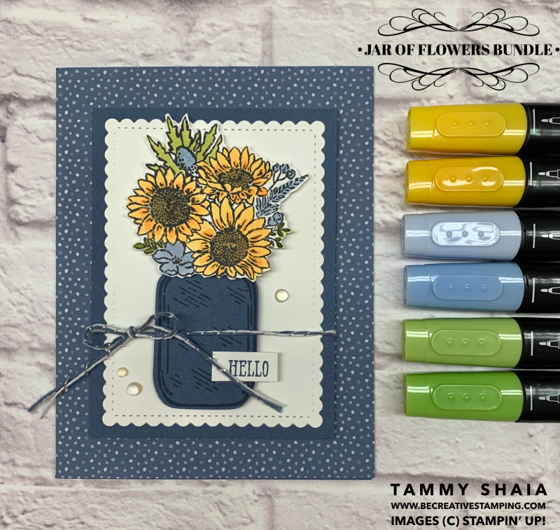 Jar of Flowers Bundle Card 2
