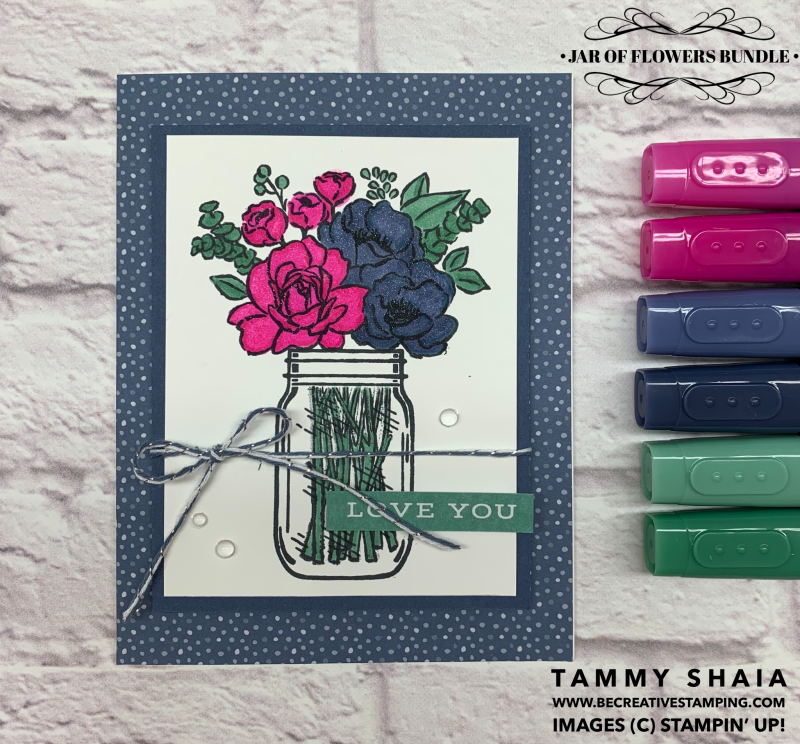 Jar of Flowers Bundle Card