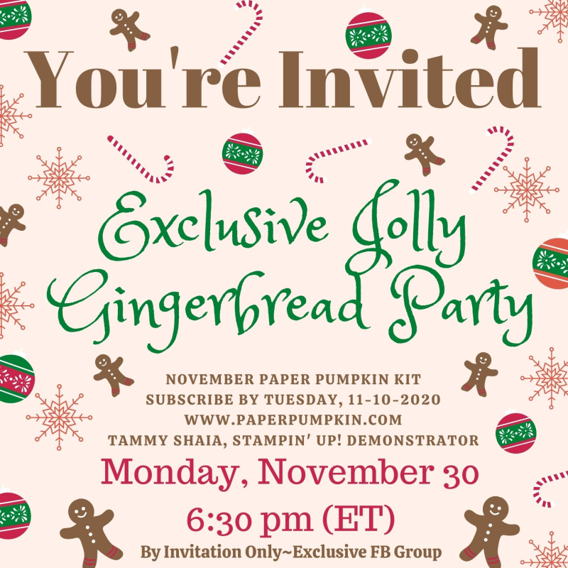 Jolly Gingerbread Invitation